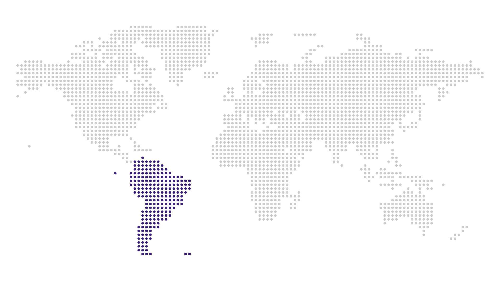 South America Region on map